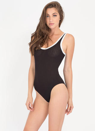 Trim And Proper Rib Knit Bodysuit