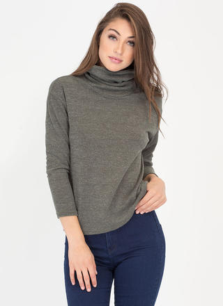Split Second Laced Turtleneck Sweater