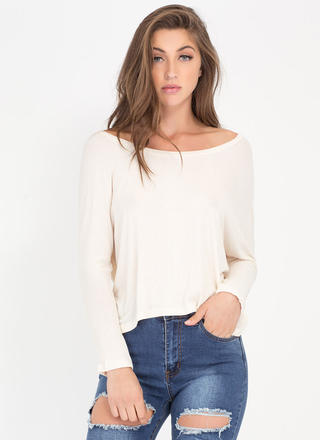 Solid Foundation High-Low Dolman Top