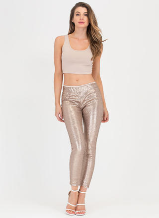 Gilt-y Pleasure Sequined Pants