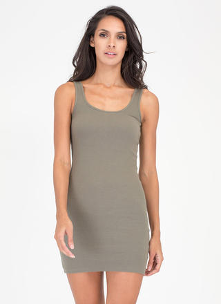 Tanks A Lot Rib Knit Scoop Dress
