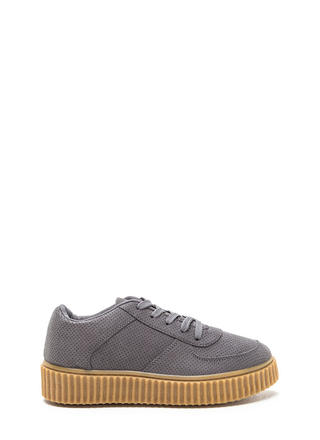 Perfect Pick Faux Suede Creeper Sneakers