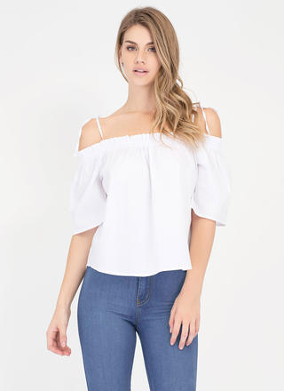 Casual Take Tied Off-Shoulder Top
