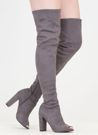 Sleek Preview Chunky Thigh-High Boots