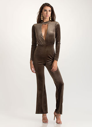 Studio 54 Flared Velvet Jumpsuit