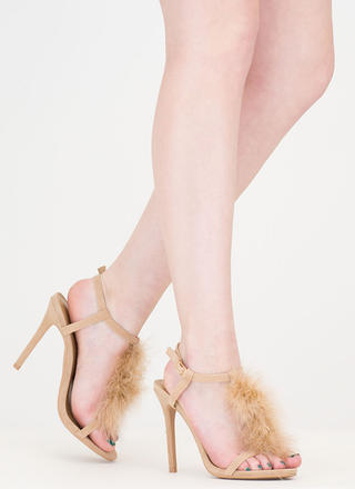 Feathered Friend T-Strap Heels