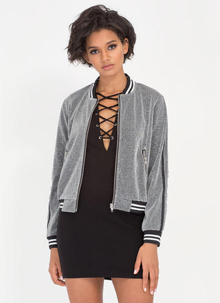 Glitz So Wonderful Varsity Bomber Jacket
