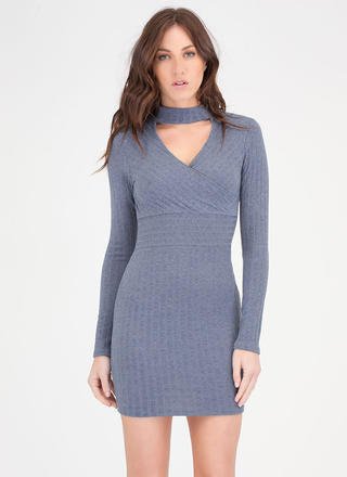 Sweater Whether Rib Knit Dress