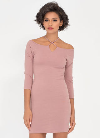 X It Strappy Off-Shoulder Dress