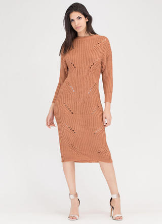 Cozy Challenge Shredded Knit Maxi Dress