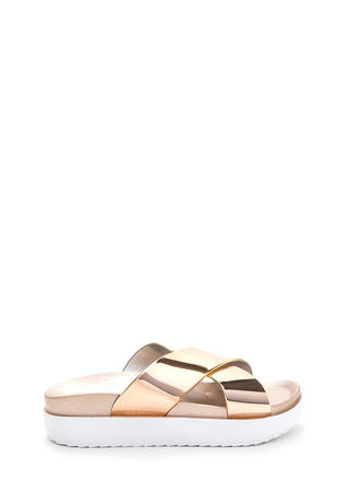 Cross Walk Metallic Platform Slides