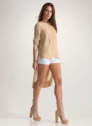 Pull Some Strings High-Low Sweater