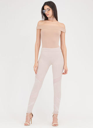 Sheer Perfection Mesh Inset Leggings