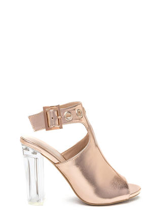 Hole New World Chunky Metallic Heels