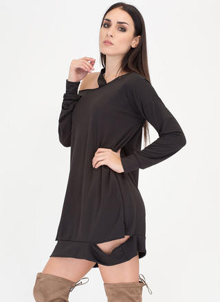 Cut From The Same Cloth Sweatshirt Dress