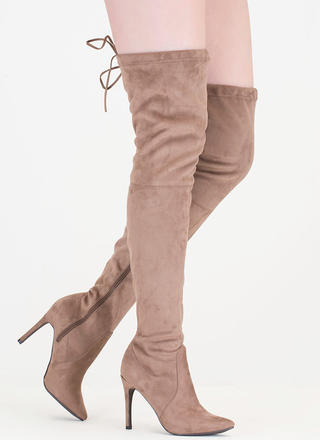 Tie 'N Mighty Pointy Thigh-High Boots