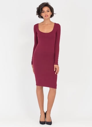 Give You The Scoop Low-Cut Midi Dress