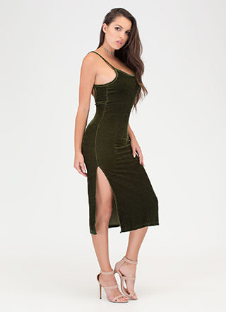 Vote Velvet Open Back Slip Dress