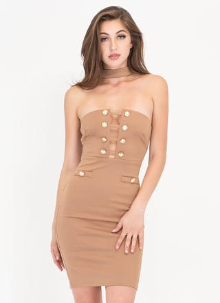Hot Button Issue Caged Choker Minidress