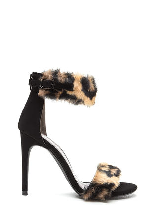 Feline Great Leopard Fur Stiletto Heels