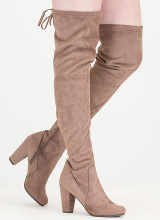 Drawstring Dream Thigh-High Boots
