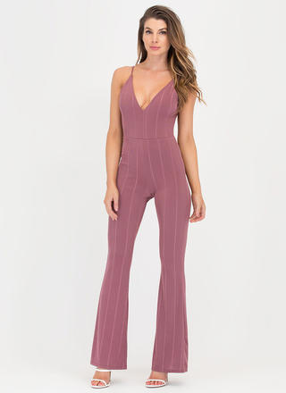 New Line Plunging Palazzo Jumpsuit