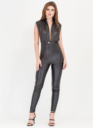 Smooth Sailing Plunging Jumpsuit