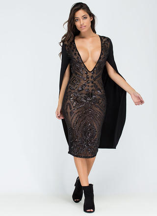 Sparkly Perfection Sheer Midi Dress