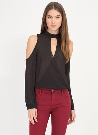 Stylish Romance High-Low Plunge Top