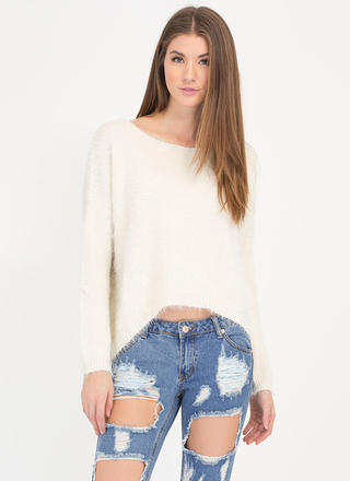 Soft Whisper Fuzzy Dolman Sweater