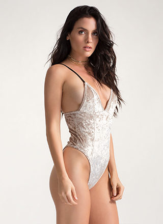 Plush Hour Crushed Velvet Bodysuit