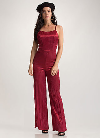 Gilded Up Palazzo Tie-Back Jumpsuit