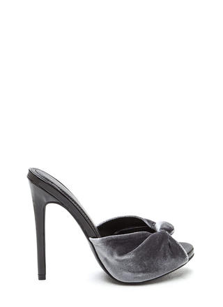 Knot Over It Velvet Stiletto Heels