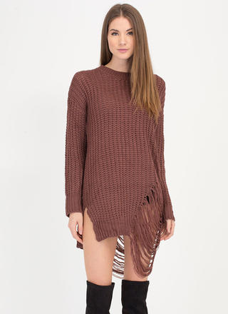 Pull Some Strings Knit Sweater Dress
