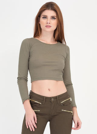 Everyday Thing Rib Knit Crop Top