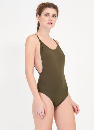 Use Your Muscle Open Back Bodysuit