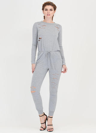 Superb Taste Slashed Jogger Jumpsuit