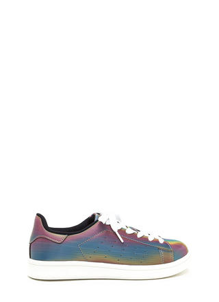 Rainbow Fantasy Lace-Up Sneakers