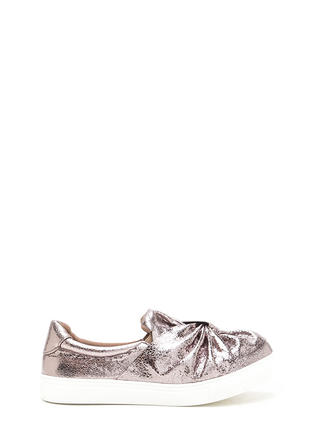 Knot Your Average Metallic Sneakers