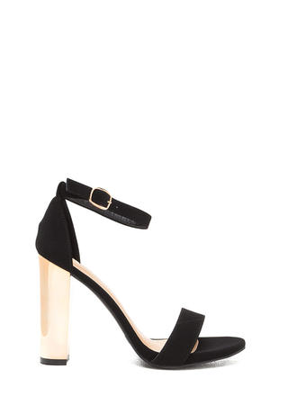Well Dressed Faux Nubuck Chunky Heels