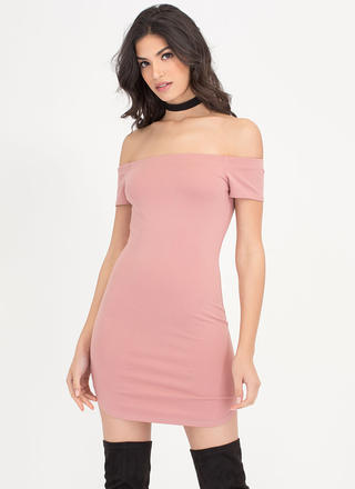 Easy Livin' Off-Shoulder Round Hem Dress