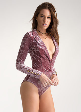 Trail Blazer Crushed Velvet Bodysuit