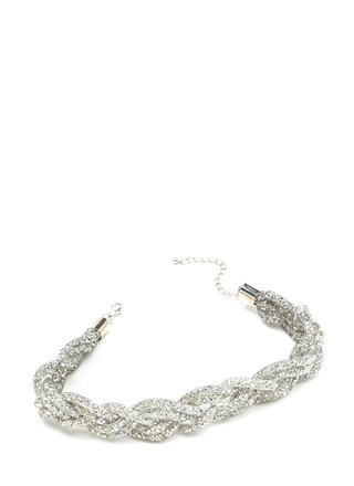 All That I Glam Sparkly Braided Choker