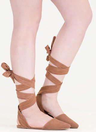 Stage Prep Pointy Lace-Up Flats