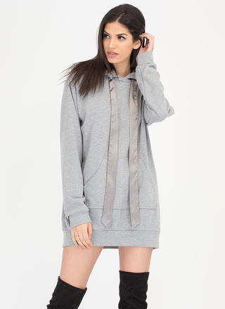 Laid-Back Luxury Sweatshirt Hoodie Dress