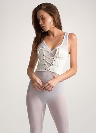 It's A Cinch Stretchy Lace-Up Corset