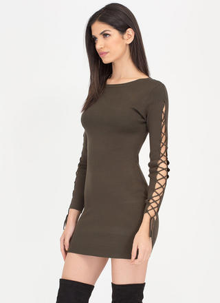 One Knit Wonder Lace-Up Minidress