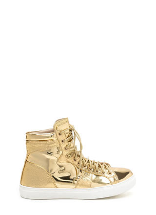 Easy Stroll Metallic High-Top Sneakers