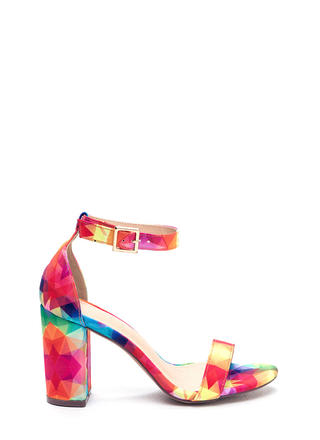 Killer Look Chunky Rainbow Heels