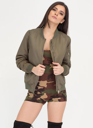 Out And About Padded Bomber Jacket